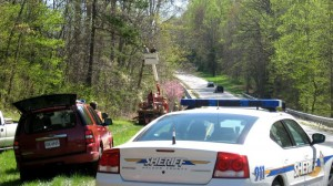 Nelson County deputies block one lane of 29 while the rescue is taking place.