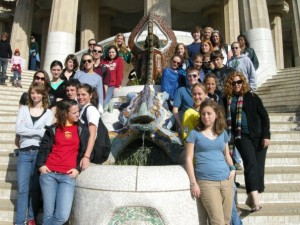 Photos By Mallory Crandall : ©2009 NCL Magazine : The NCHS Foreign Language Student pose at Park Güell in Barcelona, Catalonia, Spain.