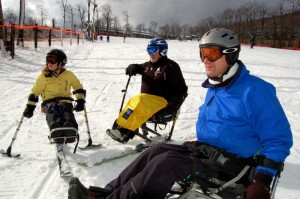 ©2008-2009 NCL Magazine : Wintergreen Adaptive Ski Members on the slopes at Wintergreen Last year.