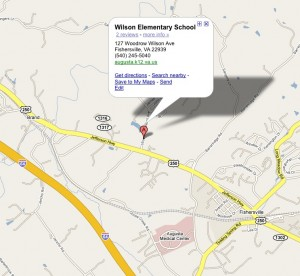 Location of Wilson Elementary School. Courtesy: Google Maps
