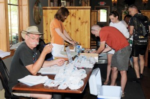 Long before the race got underway, entrants signed in for the race at the beautiful brewery just below Black Rock Mountain in Beech Grover/Roseland.