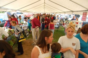 Photos By Tommy Stafford : ©2009 NCL Magazine : The tents were packed this past weekend on the opening day of The Nelson Farmer's Market in Nellysford, Virginia