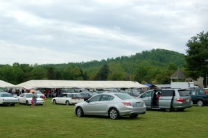 The parking lot was packed this past weekend at the market.