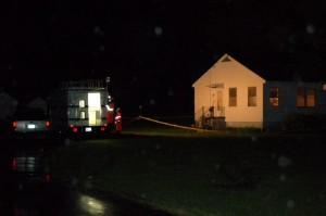 ©2009 NCL Magazine : VA State Police Investigators at the scene of Opal Page's murder May 7th.