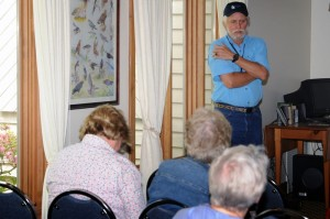The annual Spring event celebrates the natural history and the prehistoric cultural heritage of the area. Above, Doug Coleman, Executive Director of TWNF talks to a group this past weekend.