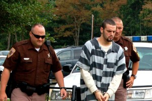 ©2009 www.nelsoncountylife.com : 19 year old Christopher Meeks is escorted by deputies into a Nelson County, Virginia court Thursday. Click on any photo to enlarge.
