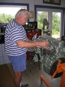 Back in September of 2005 Dave was still working in his shop to get the car restored. Saturday's show was the first public viewing since completing the restoration.