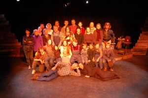 The original cast from the debut production of The Homecoming at The Hamner Theater in 2005.