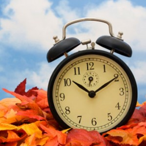 Be sure to set you clock back 1 hour before bed Saturday night. DST officially ends at 2AM Sunday morning November 1st.