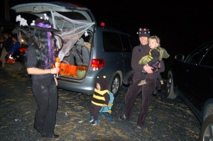 Across the road at a.m. Fog, they held Trunk and Treat for kids and adults!