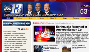 Screen grab courtesy of WSET-TV in Lynchburg, VA : Click to enlarge.