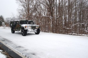 National Guard Humvee heads northbound on Rt. 151. Greenfield, VA. (Tommy Stafford) © 2009 NelsonCountyLife.com