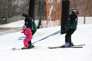 In addition to the Wounded Warriors weekend, there were roughly 14 children skiing and riding with the help from WAS.