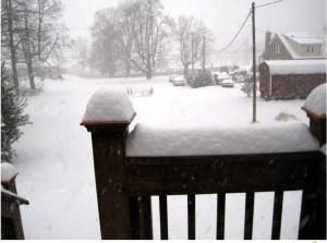 Photo By Jason Braunstein : Snow near Front Stree Garage in Lovingston, Virginia