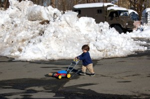 ©2010 www.nelsoncountylife.com : NCL Junior Publisher, Adam Stafford, spent his Sunday afternoon mowing up the snow on the parking lot of Wintergreen Hardware with his magic snow mower!