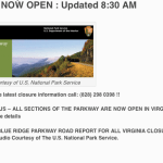 Blue Ridge Parkway Reopens After Months of Winter Weather Closure : 3.17.10