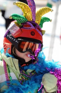 All Photos By Paul Purpura : ©2010 www.nelsoncountylife.com : It was a day of crazy costumes and lots of fun for the 15th Wintergreen Adaptive Skiing  Mardi Gras Celebration on Saturday. : Click any photo to enlarge.