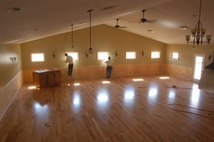 Photos By Tommy Stafford : ©2010 www.nelsoncountylife.com : Folks pitched in Tuesday to help Wintergreen Winery head toward the finish line with The Verandah event facility that will open in just a few weeks.