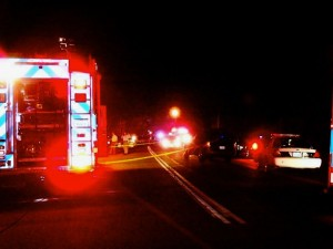 ©2010 www.nelsoncountylife.com : The scene Monday night where two people were shot on the Blue Ridge Parkway.