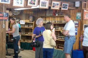 The farm market opens in May and continues operating until the end of the fruit growing season in the late fall.