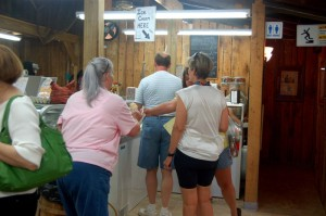 One of the favorites at Saunders has to be the ice cream! People line up to get some this past Saturday.