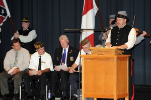 The names of all Nelson fallen soldiers from The War Between The States to Vietnam were read off Sunday afternoon.