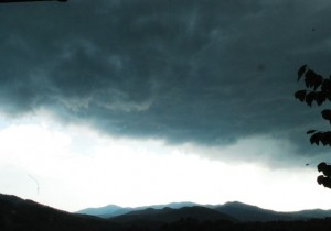 Photo By Ann Strober : Another view of the storms as they rolled in Thursday afternoon. Click to enlarge.