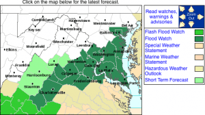 Via NWS: A Flood Watch is in effect from 6AM Wednesday morning until late Wednesday night for areas shaded in dark green. Nelson is included. Click on image for the absolute latest info from NWS.