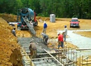 Photos Courtesy VIrginia Distilery Company : Within the past two weeks, concrete has been poured at The Virginia Distillery Company just north of Lovingston, VA.
