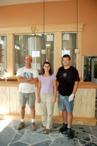 Matt, Mandi & Taylor in the late summer 2007 weeks before the brewery officially opened in October 2007.