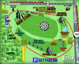 The layout of this weekend's Festy. Click on image to enlarge.