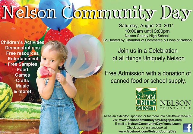Nelson Community Day – This Saturday 8 20 11 | Blue Ridge Life