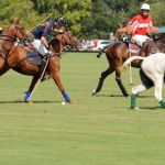 Polo Match During The Final Days Of Summer