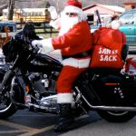 Santa Makes Stop In Beech Grove Via Harley On Christmas Eve