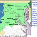 Winter Storm Watch For Areas Along & West Of BRP Wednesday Evening