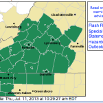 Flash Flood Watch Through Friday Morning For S Central VA Counties