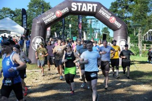 ©2013 Blue Ridge Life Magazine : Photos By BRLM Mountain Photographer Paul Purpura : And they're off! Entrants in Spartan Race 2013 hit the course early Saturday morning - August 24, 2013 at Wintergreen Resort, VA