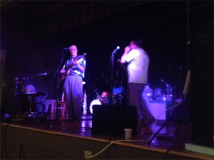 Fellow musicians took to the stage to entertain for the evening and to support their friend.