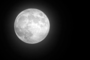 A closeup of the Harvest Moon over the Blue Ridge this past Friday - October 18, 2013