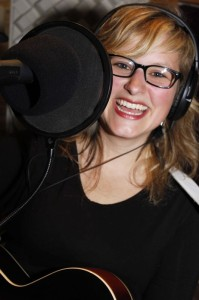Photo By BRLM Photographer Marcie Gates: Sally Rose in one of her recording sessions for the SRB release of Oh My Stars.