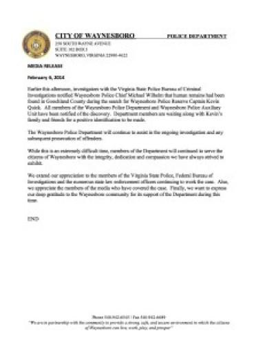 PR Waynesboro Police Department Statement - Google Drive