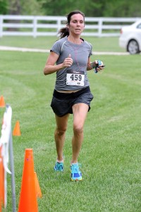 Brooke McGowan was the first female to cross the finish line during the Rockfish 4Miler this past Friday evening. Her time was 27:44.00.