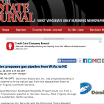 Dominion Proposes Gas Pipeline From W.Va. to NC : Via The State Journal In WV