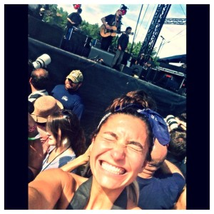 ©2014 Blue Ridge Life : Photos By BRL Photographer / Writer Marcie Gates : Willie Nelson sings to the crowd this past Sunday afternoon - September 7, 2014 during the final day of Lockn' 2014. Our roving reporter Marcie Gates captures sort of a selfie from the media photo pit during his performance.