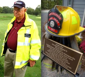 ©2009-2014 Blue Ridge Life Magazine : Frank Ott (L) was a driving force for Wintergreen Fire & Rescue in Nelson County, VA. His volunteerism was so great that the newly renovated WFD station in Stoney Creek was dedicated in his honor this past Saturday afternoon - October 18, 2014.