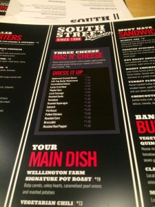 Just a small portion of the phenomenal food menu that's being rolled out at SSB.