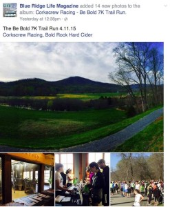 On Saturday, Corkscrew Racing also held their Be Bold Rock 7K Trail Run at Bold Rock Hard Cider. BRLM is a proud sponsor  of the Corkscrew Racing series.