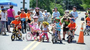 ©2015 Blue Ridge Life Magazine : Photos By Paul Purpura : Kids in the first ever Bike Out Lovingston took to the streets this past Saturday - May 30, 2015.