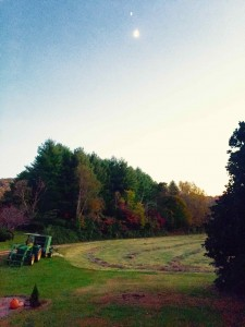 Photo By Tommy Stafford : The days are growing shorter and the final cutting of the hay for the season is about done. Brian Kidd of Roseland did raked up the freshly cut hay last Tuesday afternoon in Roseland. Once baled, Then everyone across the Blue Ridge settles in the for long winter ahead.