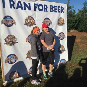 ©2015 Blue Ridge Life Magazine : Photos By Yvette Stafford : Folks were all smiles Saturday morning after finishing the 5K Full Nelson held at Blue Mountain Barrel House in Arrington / Colleen of Nelson County.